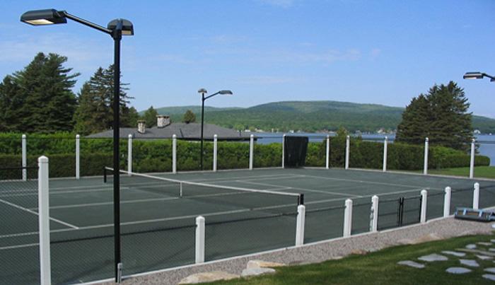 construction de terrains de tennis clairage teni court. Black Bedroom Furniture Sets. Home Design Ideas