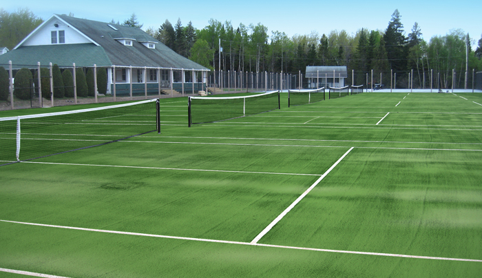 Terrains de tennis r alisations teni court for Surface d un terrain de tennis