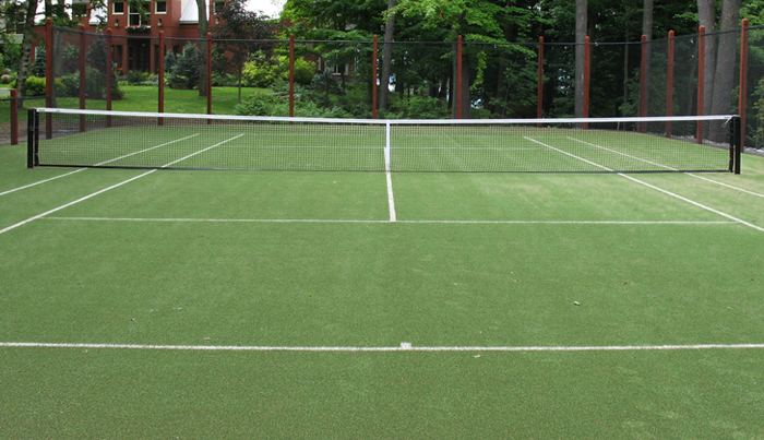 Terrains de tennis r alisations teni court for Surface terrain de tennis